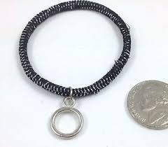 ponytail holder bracelet black silver drop ponytail holder bracelet hair access