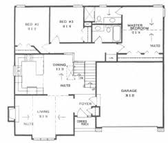 backsplit floor plans plan 1246 front to back split level home