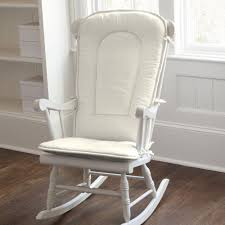 Ivory Chair Solid Ivory Rocking Chair Pad Carousel Designs