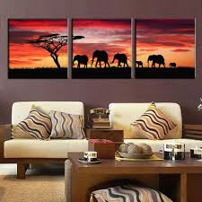 fascinating safari living room decor 3 pictures oil painting