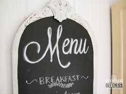 chalkboard menu from repurposed mirror prodigal pieces