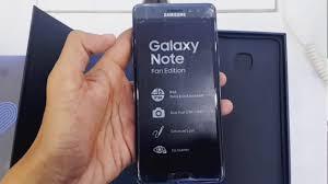 galaxy note fan edition galaxy note fe fan edition black onyx youtube