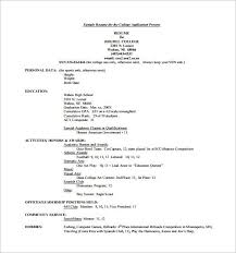 college resume template 12 high resume examples for