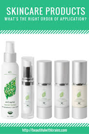 Toner Nutox what is the right order to apply skincare products