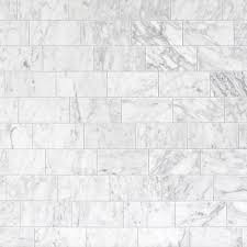 bianco carrara polished marble wall tile 3in x 6in 931100477