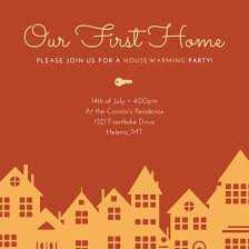 housewarming party invitation templates by canva