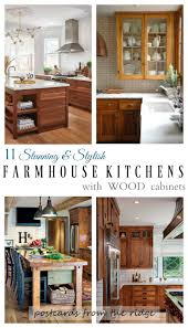 Wood Cabinet Kitchen 11 Stunning Farmhouse Kitchens That Will Make You Want Wood