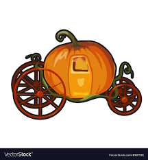 pumpkin carriage fairytale pumpkin carriage for princess royalty free vector