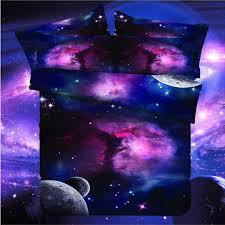 free shipping galaxy 3d bedding set universe outer space themed