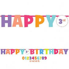 happy birthday add an age letter banner jax supply and rental