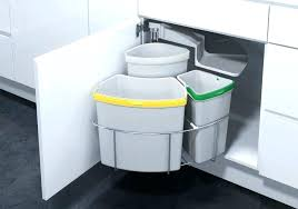 garbage can under the sink sliding trash can under sink splendid kitchen cabinet with bin