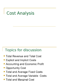 marginal costs cost analysis presentation 1 average cost marginal cost