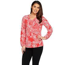 pink retro kitchen collection susan graver u2014 blouses u0026 tops u2014 fashion u2014 qvc com