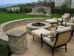 Cheap Patio Makeover Ideas Tiki Torches And Solar Lights Border - Simple backyard patio designs