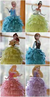 themed pinata diy frozen or princess birthday pinatas reading confetti