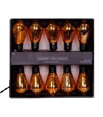 Edison Lights String by Maker U0027s Halloween 10 Count Edison Bulb String Lights Orange Joann