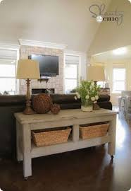 Sofa Console Table Pottery Barn Keaton Console Table How To Decorate A Console Table