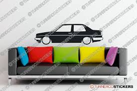 volkswagen jetta coupe lowered volkswagen jetta mk2 coupe classic vw silhouette wall sticker