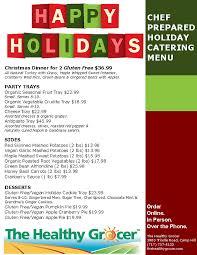christmas dinner order online christmas dinner entertaining menu the healthy grocer