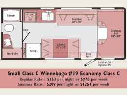 small class c winnebago u0027s rv rentals and sales luxury motorhome