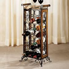 wine racks wrought iron floor standing mcmurray