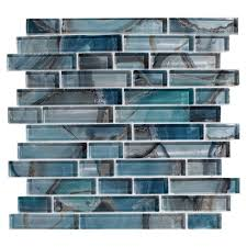Floor And More Decor Harbour Island Linear Glass Mosaic 12in X 12in 100268952