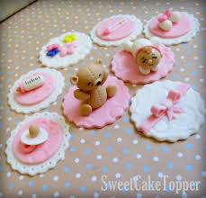 baby shower fondant cake toppers decorating of party