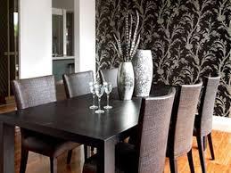 Ultra Modern Dining Room Furniture Home Design Square Solid Embossed Wallpaper Modern Dining Room