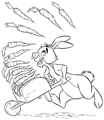 printable cartoon winnie the pooh rabbit colouring pages for white