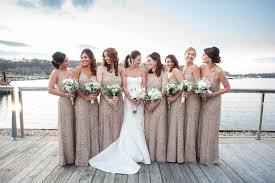 papell bridesmaid dress harbor club at prime wedding photos new year s wedding