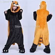 Raccoon Halloween Costumes Wholesale Animal Costume Raccoon Onesie Slipper Included