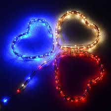 Red Heart Fairy Lights by 100 Fairy String Led Lights Indoor Outdoor Waterproof Flexible