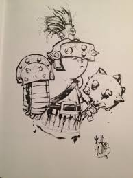 skottie young baby planet hulk comic convention sketch awesome