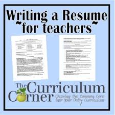 writing your resume sample resume teacher and students