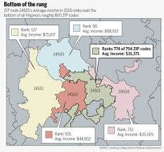 Virginia Zip Code Map tax analysis points to regional income discrepancies local news