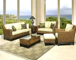 South Beach Sofa Natural Wicker And Rattan Full Size Seating