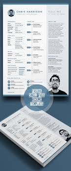 1 page resume template 20 free cv resume templates psd mockups freebies graphic