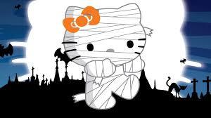 halloween hd widescreen wallpaper zombie hello kitty at halloween hd desktop wallpaper widescreen