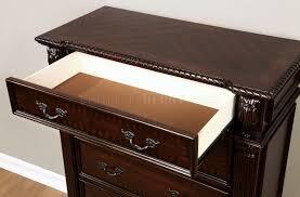 Bedroom Furniture Edinburgh Cm7671 Bedroom In Brown Cherry W Options