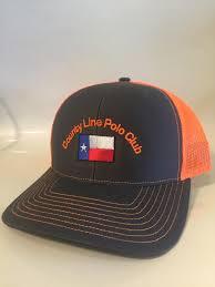 Black Flag Hat Black Orange Texas Flag Polo Hat Embroidered County Line Polo Club