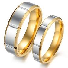 his and hers matching wedding rings and matching his hers rings segmental band golden edge