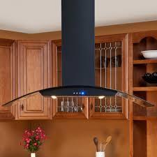 ceiling amusing casa series black island stove hood with glass