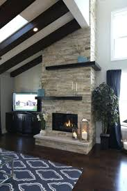 gas fireplace with blower parade home floor ceiling stacked stone
