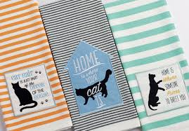 cat purrs embellished dishtowel u2013 dii design imports