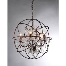 Sphere Chandelier With Crystals Warehouse Of Planetshaker Antique Bronze Spherical