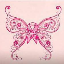 breast cancer butterfly design