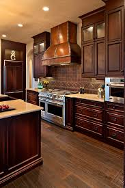 copper backsplash kitchen copper tile backsplash kitchen contemporary with cabinetry