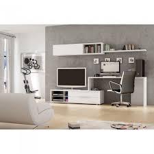 bureau meuble design meuble mural tv bureau office couleur blanc m achat vente