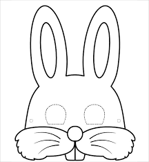 bunny mask 9 bunny template free jpg pdf document free