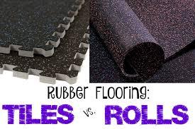 rubber flooring tiles vs rolls flooringinc